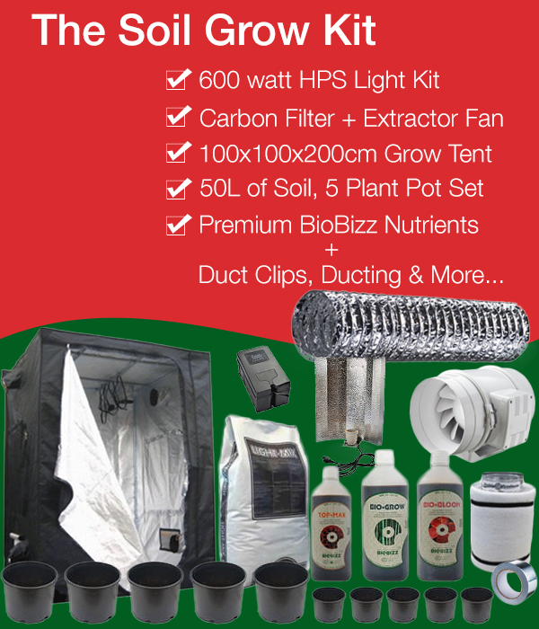 Soil Grow Kits Complete Soil Growing Package With Tent Kit