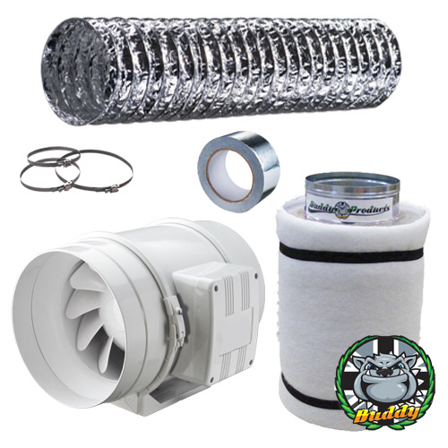 fan-filter-kit  sc 1 st  Grow Genius & Soil Grow Kits - Complete Soil Growing Package with Tent Kit