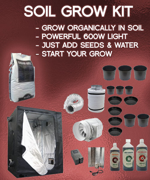 soil-grow-tent-kit & Soil Grow Kits - Complete Soil Growing Package with Tent Kit