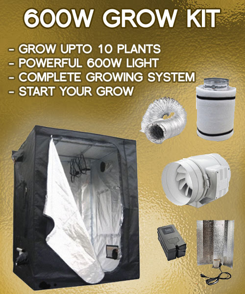 600w-grow-tent-kit & 600w Grow Tent Kit - 5-12 Plant Indoor Grow Package