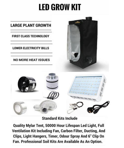 Home / Hydroponics Kits  sc 1 st  Grow Genius & LED Grow Tent Kits - Complete LED Hydroponics Kit
