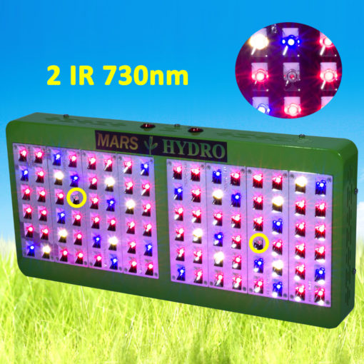 MarsHydro Reflector 96 LED Grow Light Lamp Full Spectrum Veg Bloom Lamp For Indoor Medicinal Plants