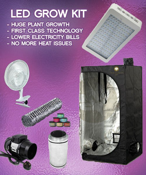 Large Led Grow Tent Kit & Large 2 x 600w Led Grow Tent kit