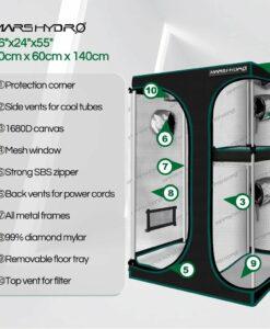 90x60x140cm Indoor Grow Tent